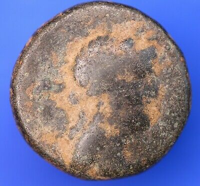 Ancient Greek Æ bronze coin 19mm, uncleaned, *[18618]