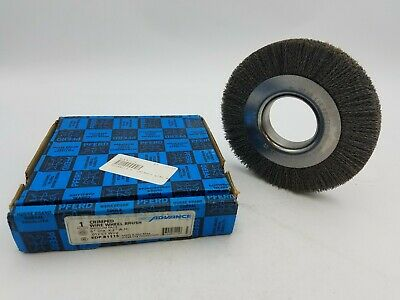 "PFERD 81115 6"" Crimped Wire Wheel Brush Medium Face 2"" A.H. .012 CS 6000 RPM NOS"