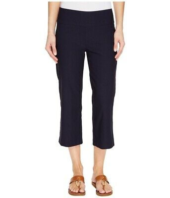 Tribal Womens Pants Ink Blue Size 2 Capris Stretch Bengaline Pull On $44 910