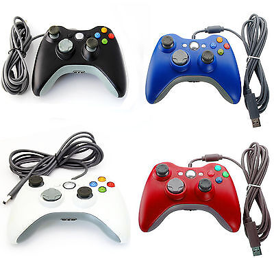 Brand New Xbox 360 Controller USB Wired Game Pad For Microsoft Xbox 360 PC UK