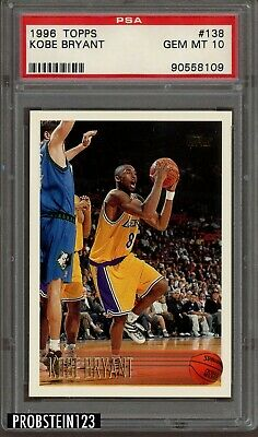 1996-97 Topps #138 Kobe Bryant Los Angeles Lakers RC Rookie PSA 10 GEM MINT