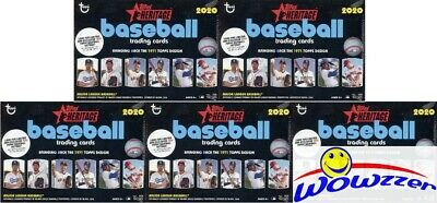 (5) 2020 Topps Heritage Baseball EXCLUSIVE Factory Sealed Blaster Box-Loaded!