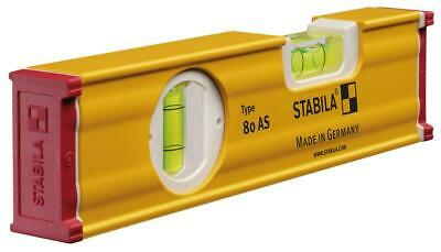Stabila 80AS-2 Handy Mini/Small 20cm Box Section 2-Vial German Made Spirt Level