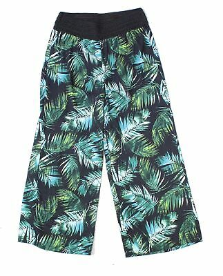 Skye's The Limit Womens Pants Green Size XL Wide Leg Printed Stretch $59- 358