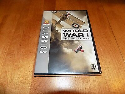WORLD WAR ONE I THE GREAT WAR WWI History Channel Classics 4 DVD SET SEALED NEW