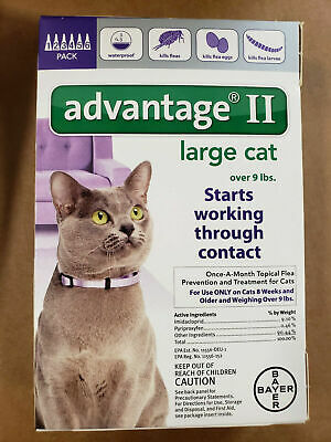 Bayer Advantage II for Large Cat over 9 lbs 6-Pack - Brand NEW & FREE Shipping!