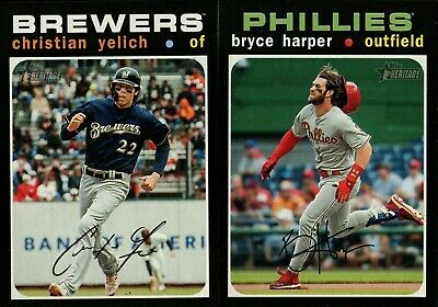 2020 Topps Heritage Action Image Variation W/ Rookie Rc & Sp Singles - You Pick