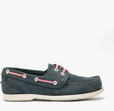 Catesby Shoemakers PIPPA Ladies Womens Nubuck Leather Boat Deck Shoes Navy