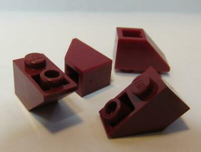 Lego X25 Red Slope 45° Inverted 2x1 Bulk Parts Lot #3665