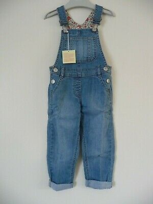 Mini Boden New Spring Denim Dungarees £32 Girls 2-3 Years Trousers Baby