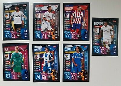 Lote 7 Exclusive Cards Topps Match Attax 2019 2020 Champions League