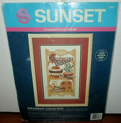 Sunset Southwest Collection Counted Cross Stitch Kit New 13567