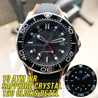 100M Water Resistant GMT Automatic Watch Diving Sea master Diver 300M Style