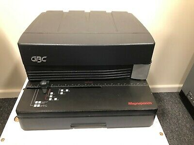 GBC Magnapunch wire binding machine with 3 dyes and wire closer