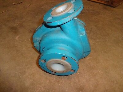 "GOULDS 3298 T-LINED MAGNETIC DRIVE PUMP CASING 1"" x 1.5""-5"" CHEMICAL PUMP"