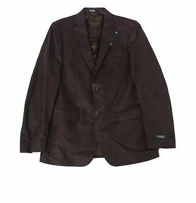 Lauren by Ralph Lauren Mens Blazer Brown Size 36 Two Button Wool $350 052