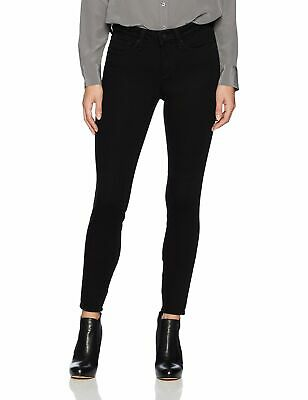 NYDJ Womens Pants Deep Black Size 4 Skinny Ankle Mid-Rise Stretch $114- 208