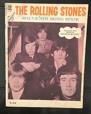 1965 The Rolling Stones Souvenir Song Book Album Magazine Mick Jagger