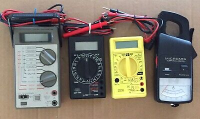 Lot of 4 Different Multimeters (Micronta, GB)