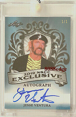 2019 Leaf Nscc Exclusive Auto: Jesse Ventura #1/1 Autograph Wwe Mayor/Governor