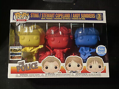 Funko POP! Rocks: THE POLICE 3 Pack Colors Sting Copeland Summers SHOP EXCLUSIVE