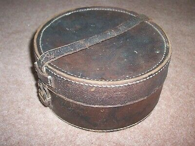 Vintage Leather Collar Box, 16cm x 8cm
