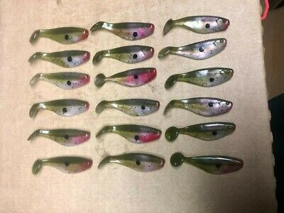 Of 10 Sassy Shad Original Mister Twister 1 Pk Walleye Fishing Lure 2 1//2 in