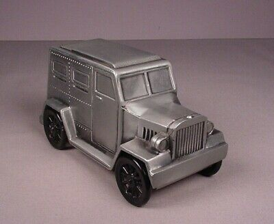 Banthrico Armored Car Truck Auto Car Metal Coin Bank vintage vehicle 1974 Pewter
