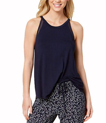 SIZES / COLORS DKNY Mesh-Detail Pajama Tank Top