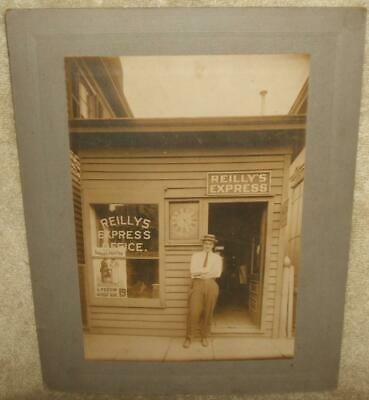Circa 1910 Cabinet Photograph Reilly's Express Office Red Bank New Jersey