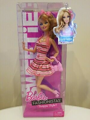 Barbie Fashionistas Swappin' Styles Articulated SWEETIE Doll 2010 Mattel T7415