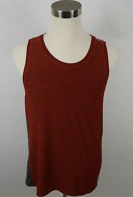 Reebok Mens Stretch Polyester Play Dry Heather Red Athletic Tank Top Shirt M