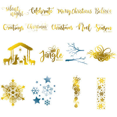 Christmas Metal Hot Foil Plate Stencil Scrapbooking Paper Card Crafts Embossing