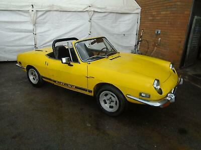 Fiat 850 Sport Spider Convertible(1971) Yellow! Solid Project! Hardtop/Alloys!