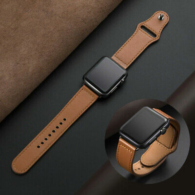 Genuine Leather iWatch Band Strap for Apple Watch Series 5 4 3 2 1 38 40/42 44mm