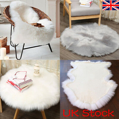/'OVER STOCK CLEARANCE/' PALE PINK FROSTED CIRCLE FAUX SHEEPSKIN FLUFFY RUG 140CM