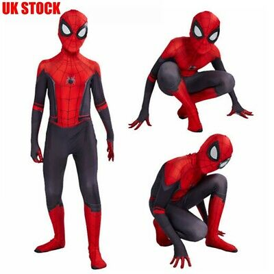 Boy Adult Far From Home Spiderman Costume Peter Parker Zentai Cosplay Suit FFH81