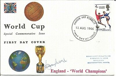 Bobby Moore signed 1966 World Cup FDC authentic autograph AFTAL dealer AK1361