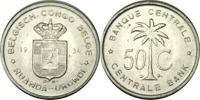 1955 50 Centimes Circulated Old Ruanda-Urundi Coin