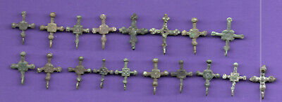 LOT OF 50 Ancient Viking Bronze Cross Kiev Russia ca 1100 Byzantine