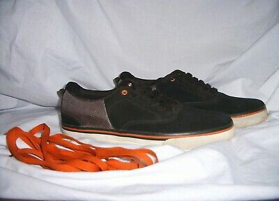NWT AirSpeed Men's Athletic Black Leather Skateboarding LaceUp Shoes 7 8 10.