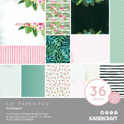 """KAISERCRAFT Scrapbooking Paper Pads - 6.5"""" - Sunkissed - PP1085"""