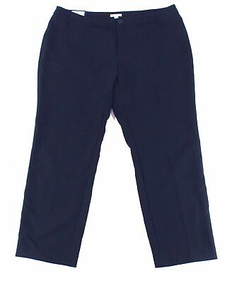 Charter Club Womens Dress Pants Blue Size 20W Plus Straight Leg Stretch $79 238