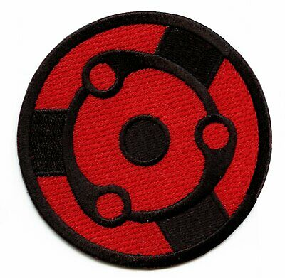 "Uchiha Clan Anime Embroidered Iron On Patch Appliqué 2.5"" X 3.25"""
