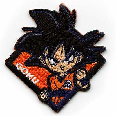 """Goku Blue Hair  Iron On Sew On Embroidered Patch 2"""" x 2.25"""" Dragon Ball"""