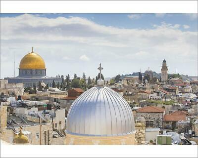 "10""x8"" (25x20cm) Print Israel, Jerusalem, View of Dome of the Roc..."