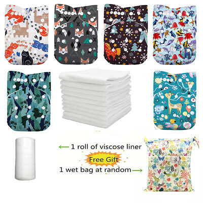 DoDo Bear New Prints Reusable Washable One Size Pocket Baby Cloth Diapers