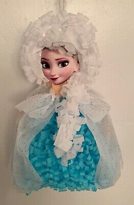 Disney Frozen Elsa and Anna Snow Queen Drum Pull Pinata Party Game