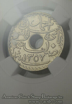 Tunisia 10 Cents AH1357/1938 (a) MS66 NGC copper-nickel KM#259 FINEST Pop 4/0