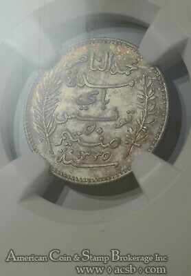 Tunisia 50 Centimes AH1335/1916 A MS65 NGC silver KM#237 Champaigne Gem